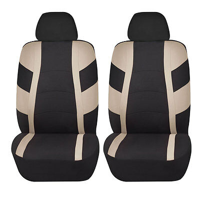 Racerline 4pc Low back Front Car Seat covers Polyester Universal Beige