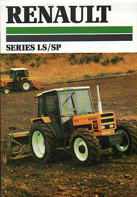 Renault Series LS and SP Tractor Brochure Leaflet