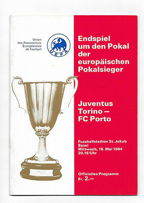 1984 European Cup Winners Cup Final - JUVENTUS v. FC PORTO