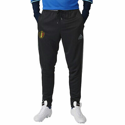 adidas Boy's RBFA Belgium Football Team Training Condivo Track Pants Black Grey