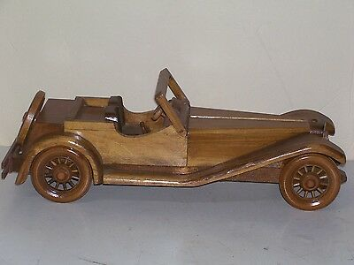 Home Made Wooden Sports Car New Condition