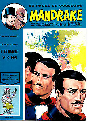 Mandrake N°412 - Editions des Remparts - 28-10-1973 - ABE