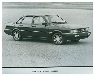 1986 Audi 4000CS Quattro Automobile Factory Photo ch4699