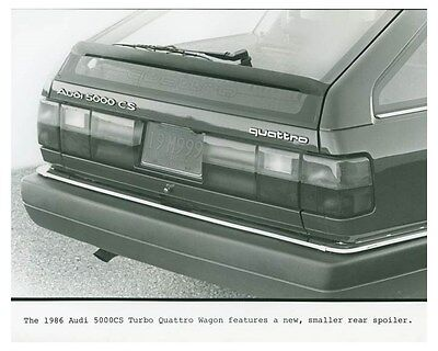 1986 Audi 5000CS Turbo Quattro Wagon Automobile Factory Photo ch4691