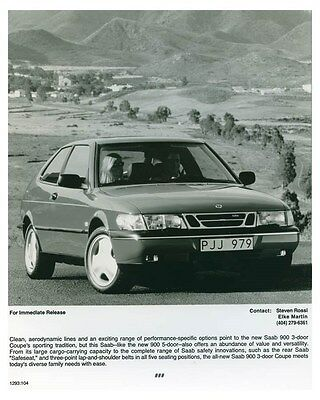 1995 Saab 900 3 Door Coupe Automobile Factory Photo ch4673