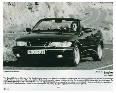 1995 Saab 900 Convertible Automobile Factory Photo ch4671
