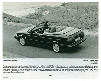 1995 Saab 900 Convertible Automobile Factory Photo ch4670