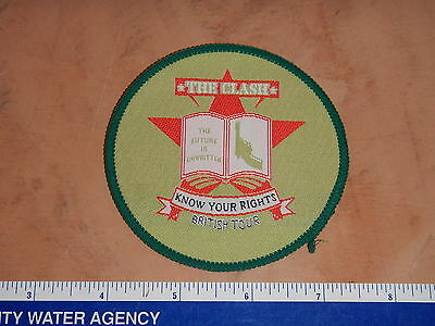 "Vintage Original 1982 The Clash Know Your Rights British Tour Patch 3.5""   Nos"