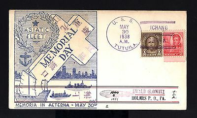 5826-China-Usa-Zeppelin Cover Chinese Fleet Uss.tutuila-Ichang.1938.wwii.chine