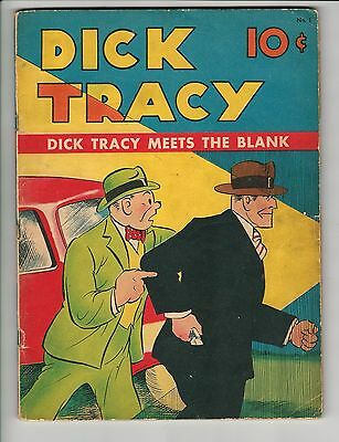 Large Feature Comic #1, VG, Dick Tracy meets the Blank, 1937