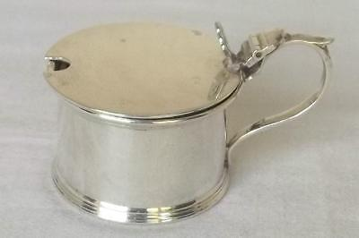 A Superb Solid Sterling Silver Drum Mustard Pot Birmingham 1938.