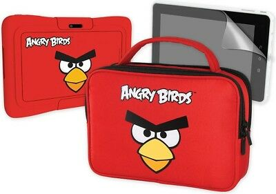 Angry Birds Skin Bumper, Travel Bag & Screen Protector Accessory Pack, Red