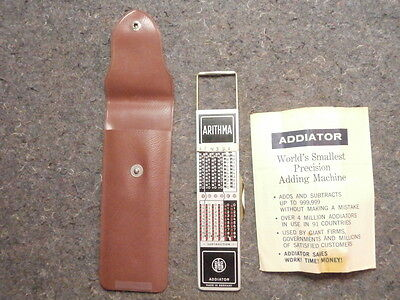 Arithma Addiator/made In Germany/no Stylus/world's Smallest Precision Adding Mac