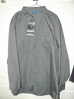 Propper Tactical Dress Shirt Mens 3Xl/r Long-Sleeve Dark Grey Ripstop Nwt