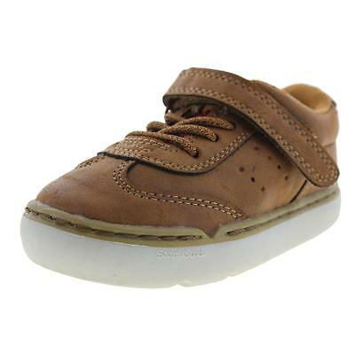 Step and Stride 1759 Boys Derby Brown Casual Shoes Sneakers 7.5 Medium (D) BHFO