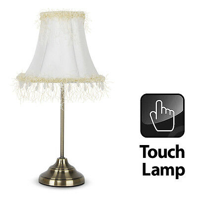 Vintage Style Chic Antique Brass Touch Bedside / Lounge Table Lamp Light Lamps