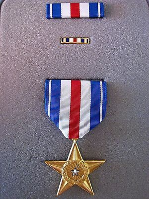 Genuine United States Silver Star Gallantry Medal Order In Presentation Case