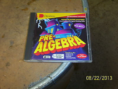 Pre-Algebra Cd Rom/ages 10 To Adult