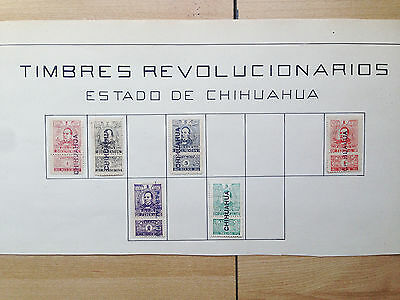 D885 Mexico Chihuahua. Sheet From Old Revenues Collection. Mng.