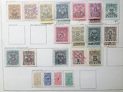 D903 Colombia 1903/1904 Mh/mng/used. Sheet From Old Revenues Collection.