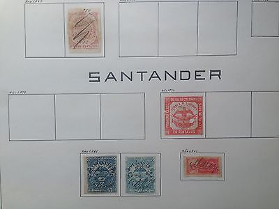 D915 Colombia Magdalena & Santander. Sheet From Old Revenues Collection.