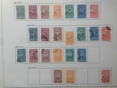 D923 Ecuador Effects 1889/93. Used. Sheet From Old Revenues Collection.