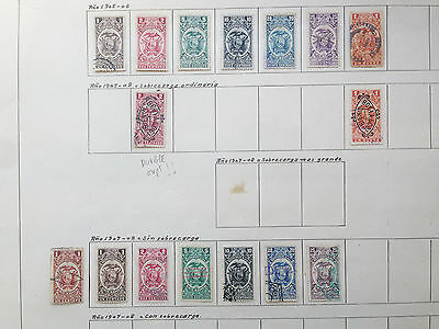 D927 Ecuador Effects 1905/1920. 3 Sheets From Old Revenues Collection.