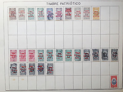 D928 Ecuador Patriotic Timbre. Sheet From Old Revenues Collection.