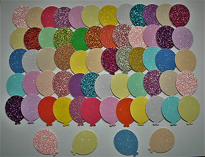 70 Balloons Glitter Card Punchies Cardmaking Punch Toppers Craft Shapes Birthday