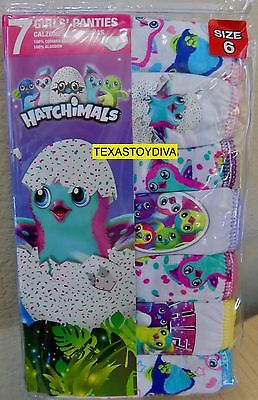 Hathimals 7 Pack Of Girls Panties Underwear Pengualas Draggles Size 6 Cotton NEW