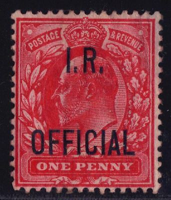 Great Britain O20 EdVII 1p IR Official 1902 $20 Mint LH