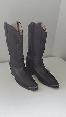 Harley Davidson Western Boots. # 91022. Black with Black Embroidery. Size 9 1/2M