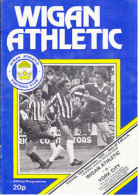 Wigan Athletic v York City - Football League Division 4 1979/ 80 - September 1th