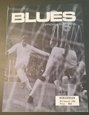 Birmingham City v Hibernian Friendly Programme 06/08/68