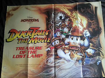 "DUCK TALES THE MOVIE - QUAD FILM - POSTER - 40"" x 30"" - landscape 1990"