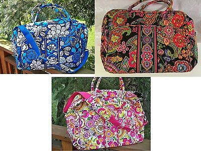 VERA BRADLEY Weekender Travel Vacation College Bag Large Roomy NEW