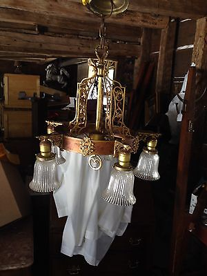 Art Deco Ceiling Chandelier Ceiling Light with Shades