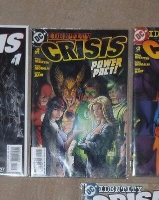 Identity Crisis #1,2,3,4,5,6,7 2004 DC by Brad Meltzer & Rags Morales
