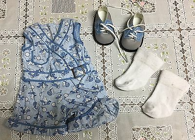American Girl Kit's Play Suit Bunny Outfit Doll Set Romper Socks Saddle Shoes