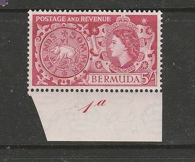 Bermuda 1953 Def 5/- with Cylider No,  UM/MNH, SG 148, see note
