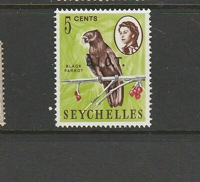 """BIOT 1968 Opts on Seychelles """"No stop after I """" MM SG 1a"""