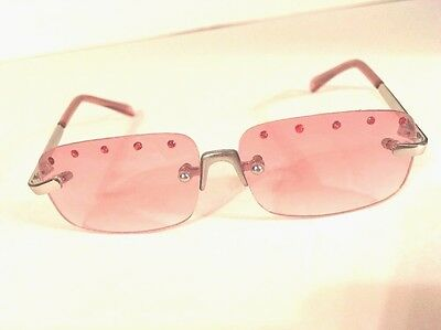 build a bear Rose Colored W Rhinestones glasses accessories metal frames pink