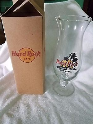 Beautiful Hard Rock Cafe Hard Rock Hurricane Glass Four Winds Collectible H157