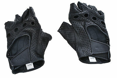 Rapha GT Grand Tour Leather Cycling Gloves MEDIUM Half Finger Road Mountain Bike