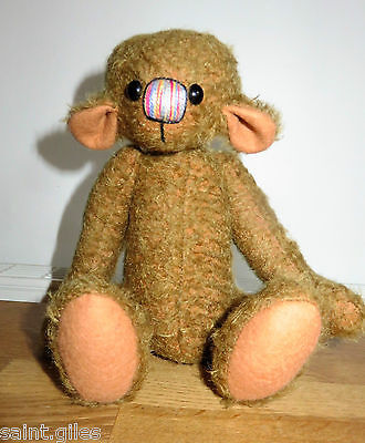"""ARTIST JOINTED TEDDY BEAR: MOHAIR 10"""" inches (ref#3)"""