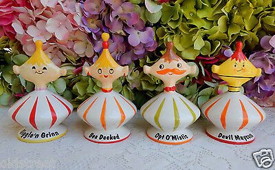 4 Rare Vintage Grant Holt Howard Pixie Pixieware Figurines ~ Mint