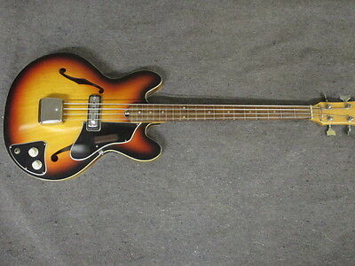 VINTAGE 1960s HOLLOW BODY BASS GUITAR WORKS