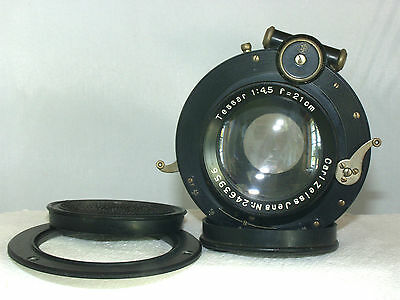 Carl Zeiss Jena Tessar 1:4.5 f=21cm Lens in Compound Shutter