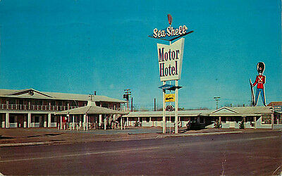 Route 66 Roadside Postcard Sentry Sea Shell, Holbrook, Arizona - used in 1963