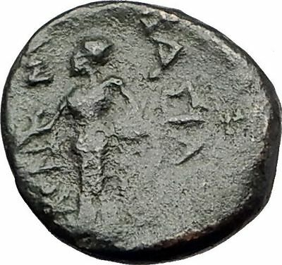 ANTIOCHOS III Megas 222BC RARE R1 Ancient Greek SELEUKID King Coin APOLLO i62316